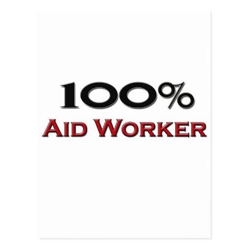 100 Percent Aid Worker Postcard