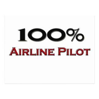 100 Percent Airline Pilot Postcard
