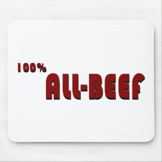 100 percent all-beef mouse pad