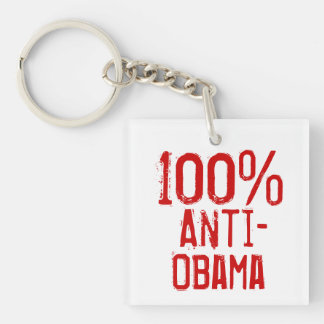 100 Percent Anti- Obama Keychain