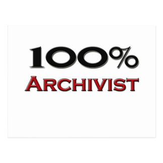 100 Percent Archivist Postcard