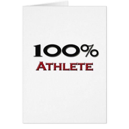 100 Percent Athlete Card