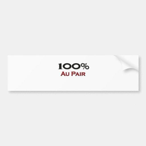 100 Percent Au Pair Bumper Stickers
