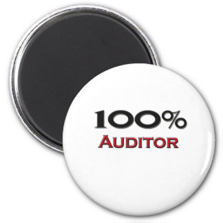 100 Percent Auditor 2 Inch Round Magnet