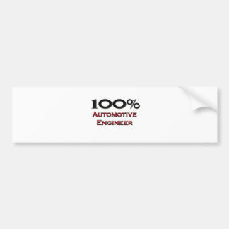 100 Percent Automotive Engineer Bumper Stickers
