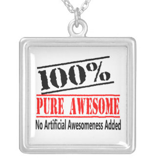 100 percent awesome silver plated necklace