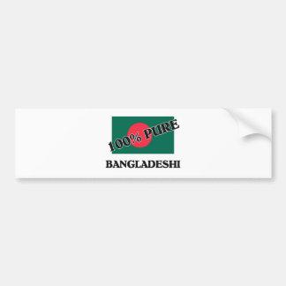 100 Percent BANGLADESHI Car Bumper Sticker