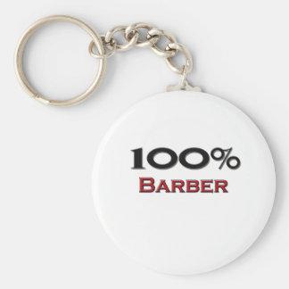 100 Percent Barber Keychain