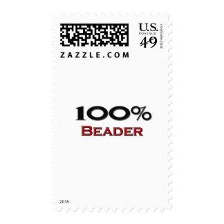 100 Percent Beader Postage Stamp