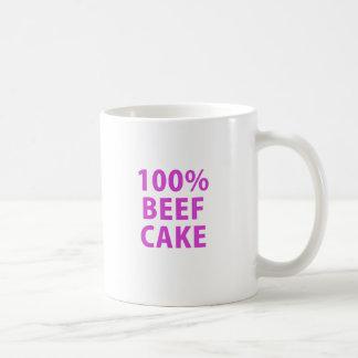 100 Percent Beef Cake Classic White Coffee Mug