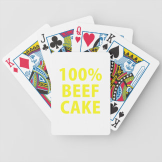 100 Percent Beef Cake Bicycle Poker Cards