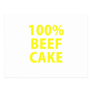 100 Percent Beef Cake Post Cards