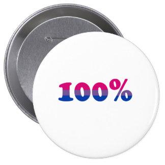 100 Percent Bisexual Pinback Button