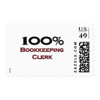 100 Percent Bookkeeping Clerk Stamps