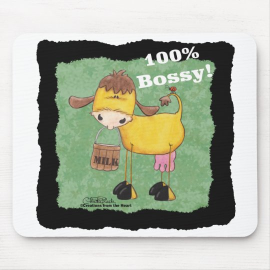100 Percent Bossy Cow Mouse Pad