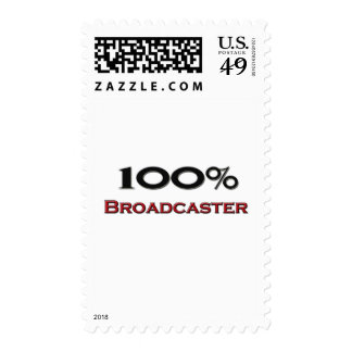 100 Percent Broadcaster Stamp