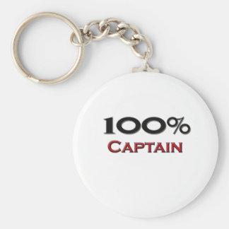 100 Percent Captain Keychain