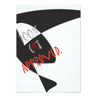 100 Percent Cat Approved Cats Kitty Kitten Lovers Card
