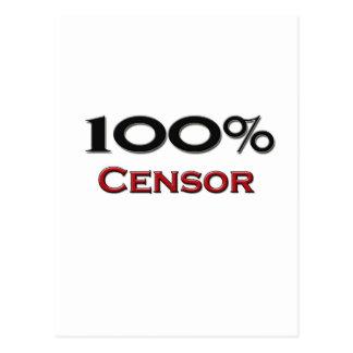 100 Percent Censor Postcard