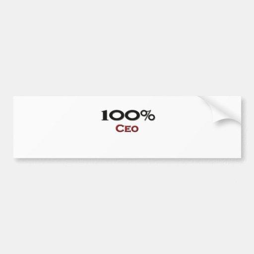 100 Percent Ceo Car Bumper Sticker