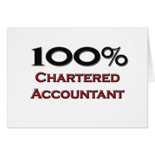 100 Percent Chartered Accountant Card