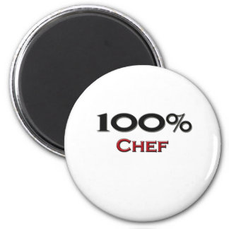 100 Percent Chef 2 Inch Round Magnet