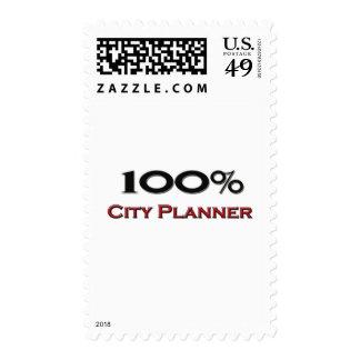 100 Percent City Planner Postage Stamp