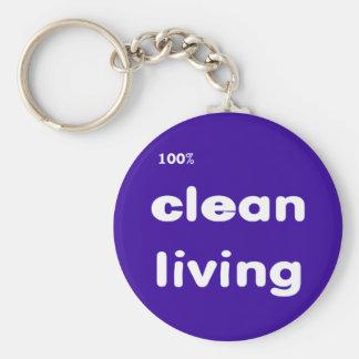 100 Percent Clean Living Keychain