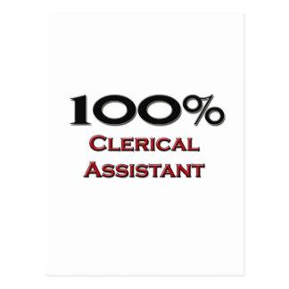 100 Percent Clerical Assistant Postcards