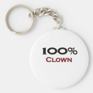 100 Percent Clown Keychain