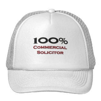 100 Percent Commercial Solicitor Trucker Hat
