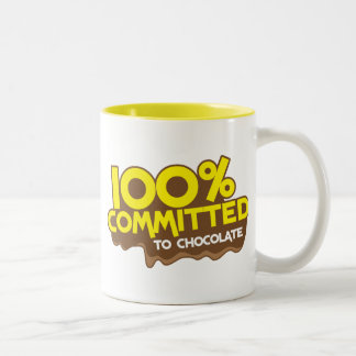 100 percent commmited to chocolate coffee mugs