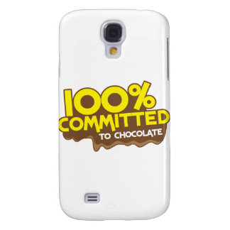 100 percent commmited to chocolate galaxy s4 cover