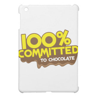 100 percent commmited to chocolate iPad mini cases