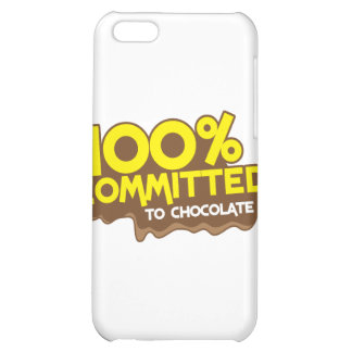 100 percent commmited to chocolate iPhone 5C cases
