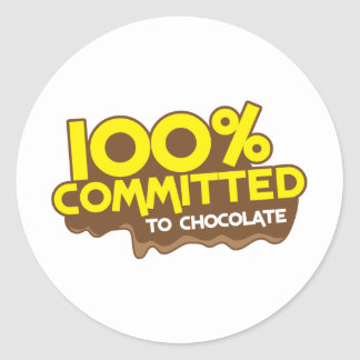 100 percent commmited to chocolate sticker