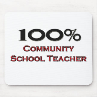 100 Percent Community School Teacher Mousepads
