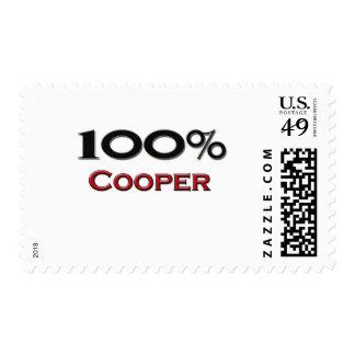 100 Percent Cooper Postage Stamps
