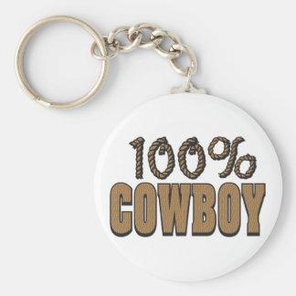 100 Percent Cowboy Keychain