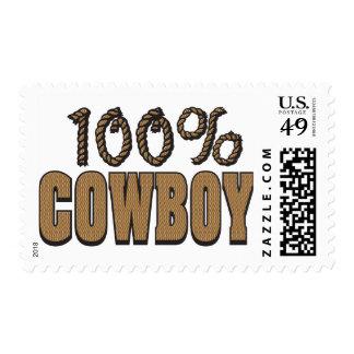 100 Percent Cowboy Postage Stamp