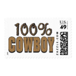 100 Percent Cowboy Postage Stamp