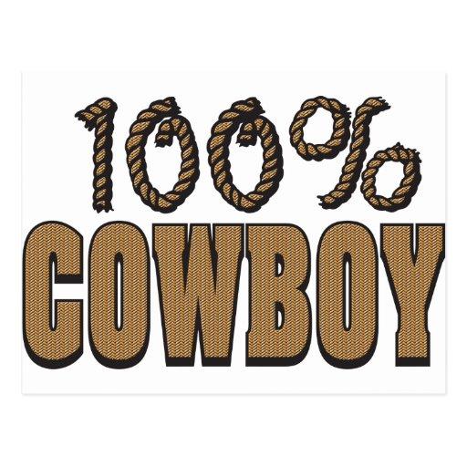 100 Percent Cowboy Postcard