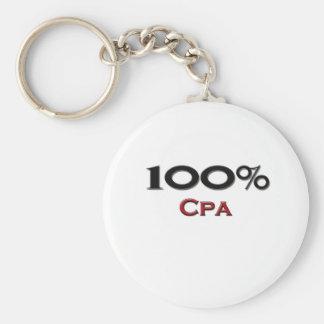100 Percent Cpa Keychain