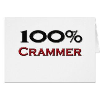 100 Percent Crammer Greeting Card