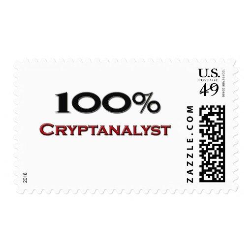 100 Percent Cryptanalyst Postage Stamp
