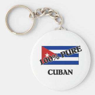 100 Percent CUBAN Basic Round Button Keychain
