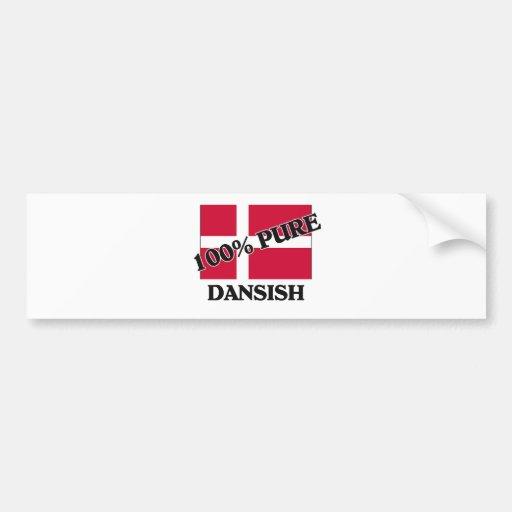 100 Percent DANSISH Bumper Sticker