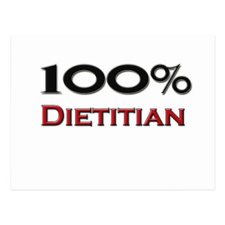 100 Percent Dietitian Postcard