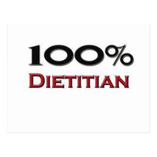 100 Percent Dietitian Postcard