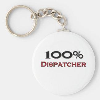 100 Percent Dispatcher Keychain